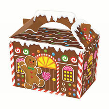 2 Christmas Gingerbread Man boys girls gift present storage party box decoration