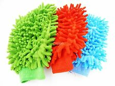 3pcs Reliable Good Double Sided Microfiber Car Dust Washing Clean Glove Towel