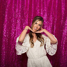 Sequin Fabric Photography Backdrop Fushia Sequin Backdrop for Wedding 7ft x7ft.