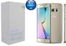 UK Stock Brand New Samsung Galaxy S6 Edge Gold G925F Unlocked 32GB Mobile phone