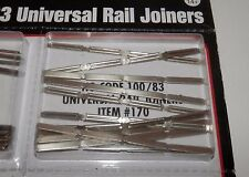 Atlas HO Scale Nickel Silver Code 100/83 Rail Joiners (48 pieces) #170 NIP