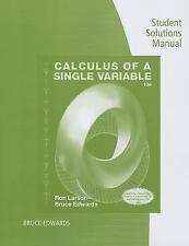 Calculus of a Single Variable by Ron Larson and Bruce H. Edwards (2013,...