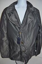 ARMANI JEANS Man's GoldenBlue Couture Windbreaker Jacket Coat NEW Size X-Large