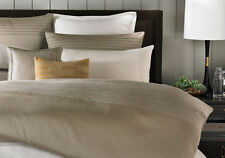 NWT $650  BARBARA BARRY Set 3 pcs - QUEEN Duvet cover + 2 Euro Sham Strand mica