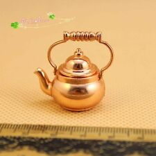 1:12 dollhouse furniture  miniature accessories copper kettle lid open 60044
