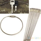 Durable10X Stainless Steel Wire Keychain Cable Key Ring Outdoor Hiking Camping