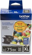 Brother LC752PKS 2 Pack of LC-75BK Cartridges Ink - Genuine