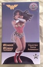 New DC ICON HEROES WONDER WOMAN DEFENDER COLLECTIBLE STATUE ~PAPERWEIGHT LIMITED