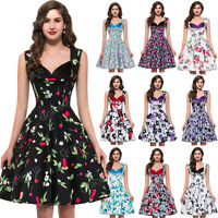 *50S 60s 70s DRESS* Vintage Style Retro Swing Pinup Dance Party Dress