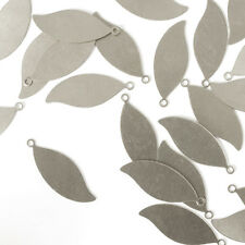 "Leaf w/ Ring 1 1/16"", Aluminum, Metal Stamping Blanks, 24 pc- Jewelry & Crafts"