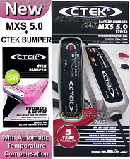 CTEK MXS 5.0 12v Car Bike Caravan Smart Automatic Battery Charger & Pink Bumper