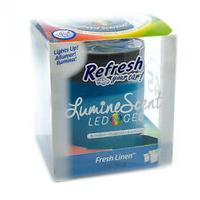 Refresh LumineScent LED Gel Color Changing Car Air Freshener, Fresh Linen Scent