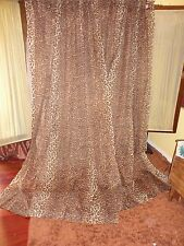 LOIS HORNICK ARAGON LEOPARD ANIMAL (PAIR) SEMI SHEER CURTAIN PANELS 57 X 86