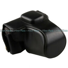 Black Leather Camera Case Bag Cover For Olympus PEN EPL6 EPL5 EPM2 14-42mm lens