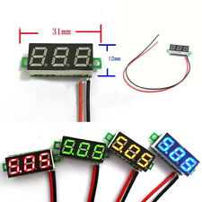 "Useful Mini 0.28"" DC Digital Voltmeter Panel Mount LED Volt meter Red 2.50~30V"