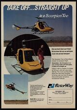 1972 ROTORWAY Scorpion Too Helicoptor VINTAGE AD