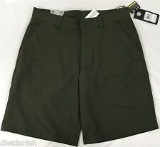 Under Armour Men's Golf Cargo Shorts Heat Gear Stripes Dark Green NWT Size 34