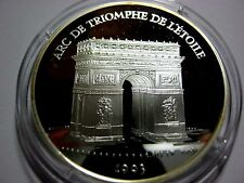1993 France Large Silver Proof  100 Fr/15 Ecu Arc De Triumph
