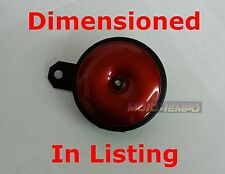 110db 12v 12 volt CUSTOM HORN IN RED WITH BRACKET Water Resistant Motorbike