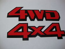 "4WD-4X4 Stickers/Decals x2 Vinyl 5""x3"" Off Road Jeep Farm Vehicles Landrover"