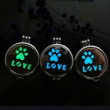 Aromatherapy Essential Oil Perfume Locket Necklace Aroma Diffuser Love Pendant