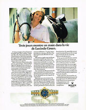 PUBLICITE ADVERTISING 074  1991  ROLEX  montre LADY DATEJUST CHRONO  LU. GREEN