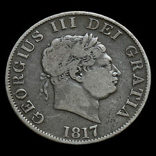 1817 George III Milled Silver Half Crown, Small Head, Fine