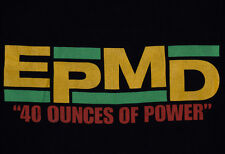 1990 EPMD 40 ounces of Power Business as Usual T-shirt vtg rap hip hop Def Jam L