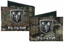 Dodge Ram Mossy Oak Camo Camouflage Canvas Bi-Fold Wallet Licensed Break Up Infi