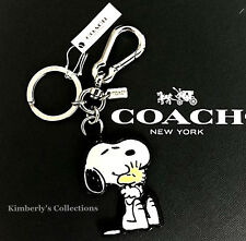 COACH X Peanuts Limited SNOOPY & WOODSTOCK Key Ring Chain Purse Charm Fob NWT