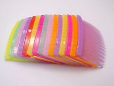 20 Mixed Color Plastic Hair Clips Side Combs Pin Barrettes 70mm for Ladies