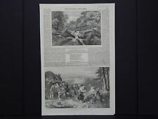 """The Illustrated London News 4s113 (""""The Strid, Wharfdale, Yorkshire"""") July, 1852"""