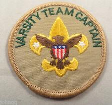 Boy Scout BSA Adult Position Patch - Varsity Team Captain, Plastic Back