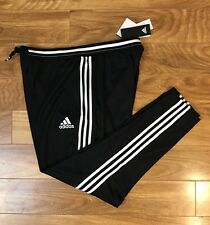 NWT $88 ADiDAs Men Athletic Track Running Sweat Pants Dri Fit Black Climacool XS