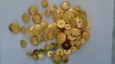 Assorted sizes same style Lot 74 golden shank button 15 , 18, 24, 30  mm