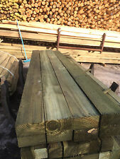 Pack of 4 2.4m (8ft) 4x2 (100mmx50mm) Treated Wooden Timber Fence Rails / Posts