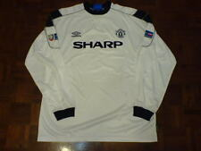 MANCHESTER UNITED 1999 CHARITY SHIELD LONG SLEEVE 3RD SHIRT PLAYER BECKHAM