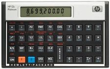 Hewlett Packard hp 12C Platinum Financial Calculator - CFA - Algebraic + RPN
