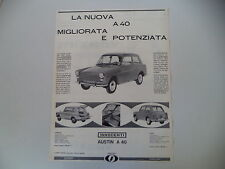 advertising Pubblicità 1962 INNOCENTI AUSTIN A40 A 40