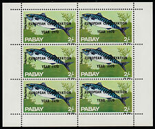 GB Locals - Pabay (989) 1970 European Conservation opt on FISH sheet of 6 u/m