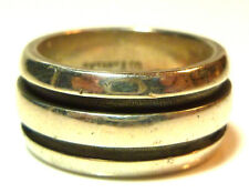 1995 TIFFANY & CO ATLAS STERLING SILVER SIMPLE PLAIN CLASSIC GROOVED RING BAND