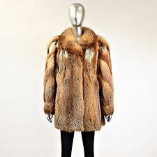 Red Fox Fur Jacket - Size M/L - Pre-Owned