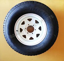 "SUNRAYSIA WHITE 16"" - 6 STUD LANDCRUISER WITH 245R16 LT TYRE ! Trailer Parts"