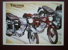POSTCARD TRIUMPH - THE BEST MOTOR CYCLE IN THE WORLD POSTER