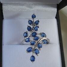 2.21ct Certified Rare Laos Sapphire White Gold Ring