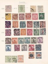 Page of old China stamps from large dragon