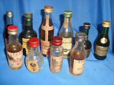 10 Old vintage Small size whisky and beer Bottles from Europe Countries 1960