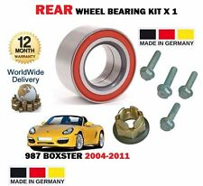 FOR PORSCHE BOXSTER 987 2004-2011 NEW REAR WHEEL BEARING KIT WITH BOLTS + NUT