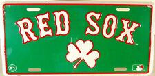Boston Red Sox Irish Shamrock embossed license plate New Aluminum auto tags
