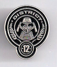 "Hunger Games District 12 Cloisonne Metal Pin 1.25"" Tall"